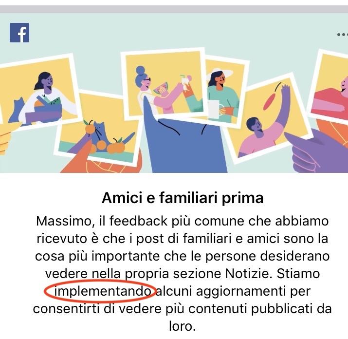 """implementare Facebook """"parole vuote"""" burocratismi """"comunicazione di lavoro"""""""