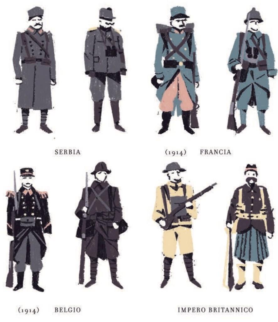 "soldati uniformi ""prima guerra mondiale"" ""Grande guerra"" ""Matteo Berton"""
