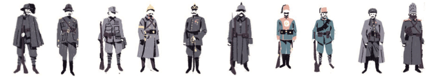 "soldati uniformi ""prima guerra mondiale"" ""Matteo Berton"""