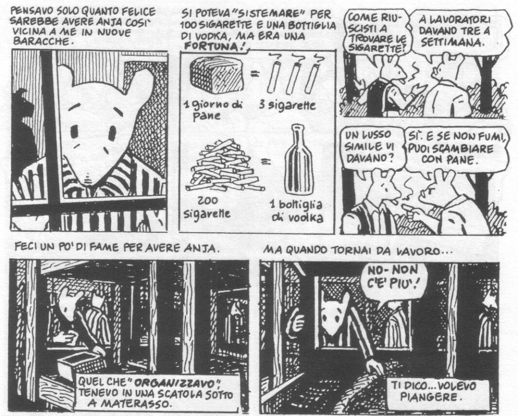 Primo Levi, Spiegelman Maus Auschwitz Robinson Roth male lingua