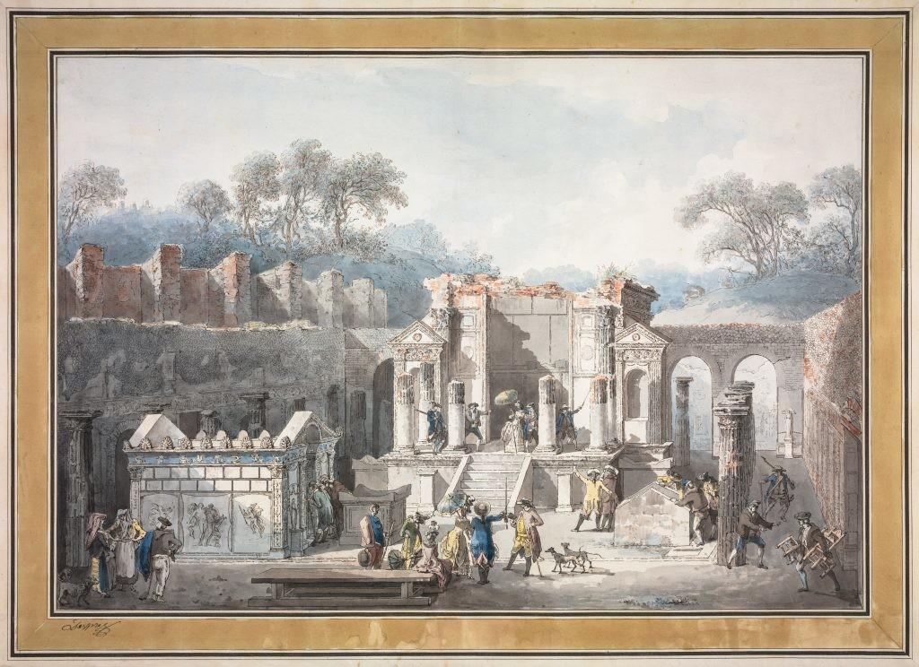 Pompei tempio di Iside Mozart,